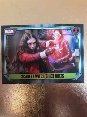 Hero Attax 2017 Marvel Missions- #150 Scarlet Witch's Hex Bolts