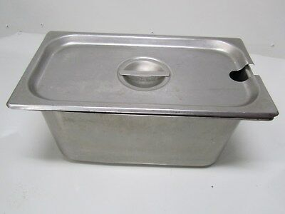 1 Bloomfield Restaurant Stainless Steel Steam Table Anti-Jam Container w/ Lid