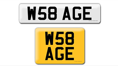 private personalised number plate w50 rus. Black Bedroom Furniture Sets. Home Design Ideas