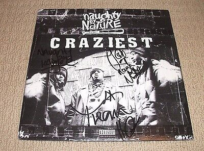 Naughty By Nature -  Signed Craziest Vinyl Lp Record *autographed By All 3*