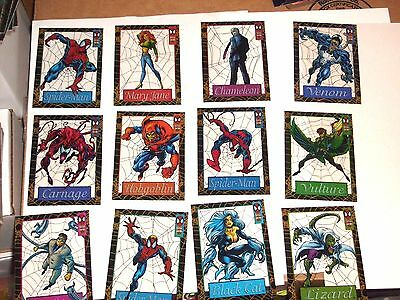 1994 AMAZING Spider-Man INSERT SUSPENDED ANIMATION 12 Card Set! VENOM BLACK CAT!