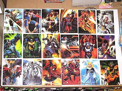 1994 Marvel Flair Annual Powerblast Insert Chase 18 Card Set! Spiderman Punisher