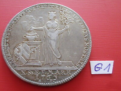 Germany Thaler 1763 SF Nuremberg Franz Peace Hubertuscastle Goddess  D-2490