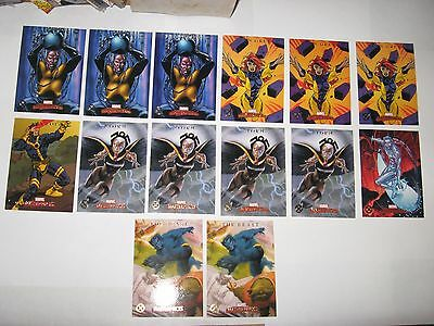 2007 Marvel Masterpieces SKYBOX X-MEN CHASE INSERT 14 CARD LOT! STORM CYCLOPS!