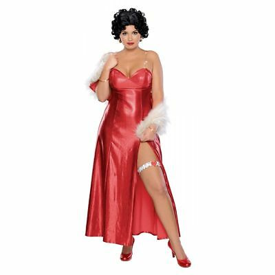 Betty Boop Starlet Long Sexy Adult Plus Size Costume Dress By Rubies New