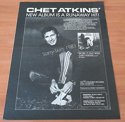 Chet Atkins Work It Out 1983 Vintage Promo Ad