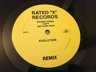 """12""""  Rated """"x"""" Records  Evolution Remix Promo ."""