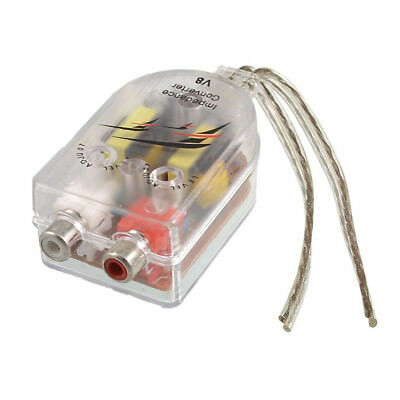 Vehicles Auto Car High to Low Impedance Converter Adapter Speaker RCA Line F8V7