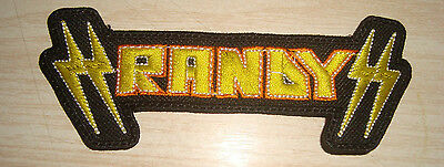 RANDY - LOGO Embroidered PATCH Pretty Maids Grim Reaper Mirage Krokus Accept