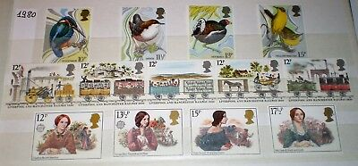 GB 1980 UNM - MNH Commemorative stamps  3 complete set