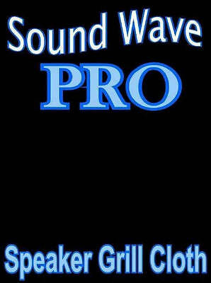 """PRO Sound Wave Speaker Grille CLOTH Stereo Fabric - BLACK - 64""""x36"""""""