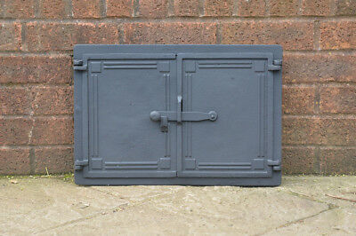 48 x 32.5 cm cast iron fire door clay / bread oven doors pizza stove fireplace