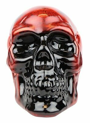 Creepy Decorations Battery Operated Skull Lantern Red