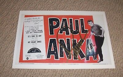 Paul Anka - Autographed Post Card! Hand Signed! Music Legend