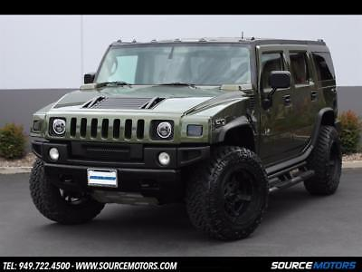 2003 Hummer H2 SUV 2003 Hummer H2 Sage Metallic, Rockstar 3's, LED's, Blacked Out, Leather