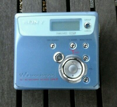 Sony blue  Walkman MZ-N505 MiniDisc  MD Player Recorder
