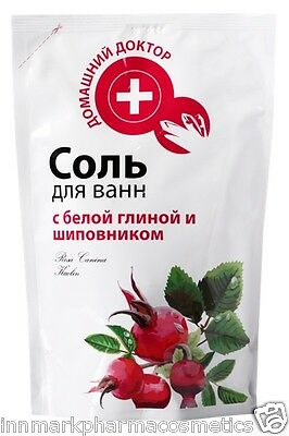 23408 Bath SALT with White Clay & Rosehip Cleanses the Body of Toxins 500g
