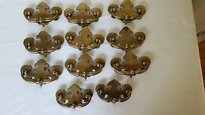Lot of 11 Vintage Colonial Bail Pull Dresser Drawer Handles