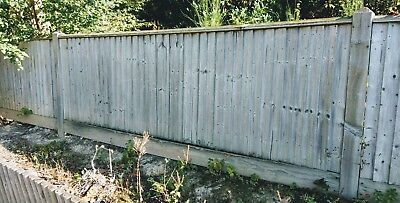 Heavy Duty Treated Wooden Timber Fence Panel  approx 3ft x 10 ft