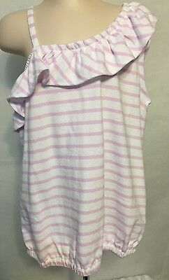 New/Tags Size 8 Gymboree Girl's 100% Cotton Ruffles Off-Shoulder Top