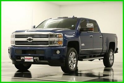 2016 Chevrolet Silverado 2500 4X4 High Country Sunroof Diesel GPS Blue Crew 4WD Like New Used 2500HD Duramax Heated Cooled Leather Navigation 17 18 2017 16 6.6L