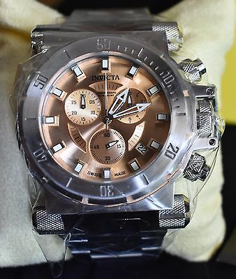 Invicta Coalition Forces Men's Watch, Model 15574 Stainless Steel/rose Gold Nib