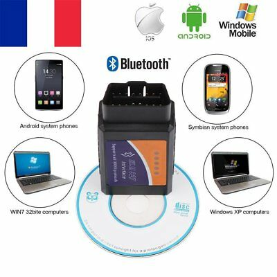 Wireless Bluetooth OBDII Auto Interface Diagnostic Scanner ELM327 Android Window