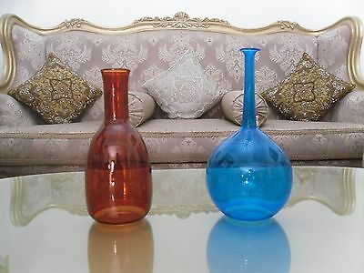 set of 2 Art Glass Vase Beautiful Hand-Blown form CH Studio Free shipping