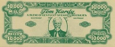 Vintage Whiskey Advertising Note Uncirculated Condition!
