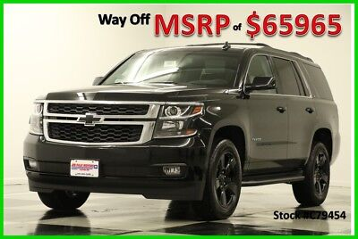 2017 Chevrolet Tahoe MSRP$65965 LT DVD Midnight Edition GPS Sunroof 4WD 4X4 Heated Cooled Black Leather Sunroof GPS Navigation 7 Captains Camera