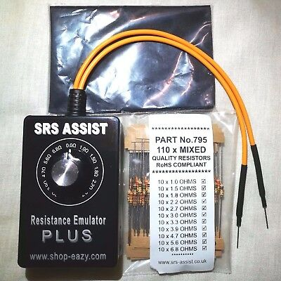 AIRBAG BYPASS RESISTOR TOOL SIMULATE SRS OHMS FREE .25w RESISTORS STARTER PACK