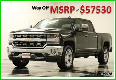2017 Chevrolet Silverado 1500 MSRP$57530 4X4 6.2L Leather Black Crew 4WD New Heated Cooled Seats Camera Bluetooth V8 Mylink 18 16 2018 17 Cab Bose