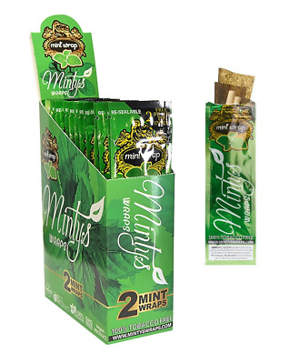 High Hemp Organic Wraps Full Box 25 (2 Wrap) Pouches 50 Wraps (MINTY FLAVOR)