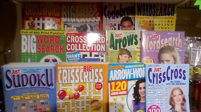 10 assorted puzzle books. Various types. Random mix, crosswords, wordsearch etc