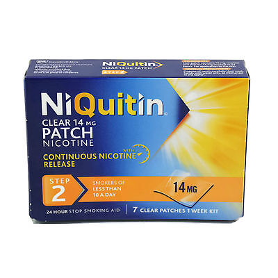 NIQUITIN CLEAR PATCHES STEP 2 - 7 Clear Patches - 14mg