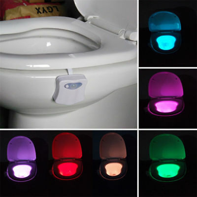 md LUCE BAGNO LED PER WATER GABINETTO WC RGB UNIVERSALE CON SENSORE DI MOVIMENTO