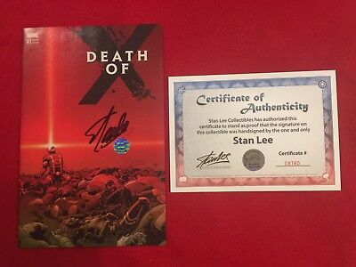 Death of X #1 Kuder Wraparound Cover X-men 2nd Print Signed By STAN LEE! w/COA