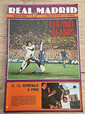 Magazine Official Real Madrid Spain Internazionale Inter Milan European Cup 1981