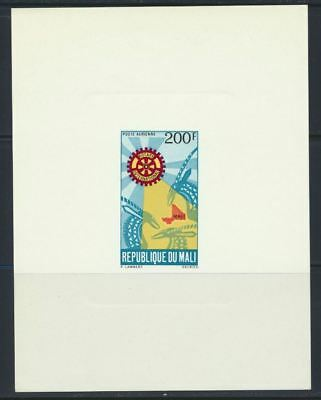 Mali Sc. C103 var Rotary Emblem on 1970 MNH Deluxe Die Proof Card