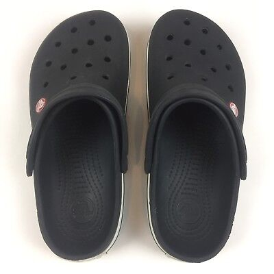Crocs Unisex Black/ Slip On Clog Shoes Size Men 6 Women's 8