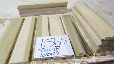 #1563 Tup 20 Pcs Tulip Hardwood Offcuts 300X60X12-Mm Sawn Edges Modelmaking  Diy