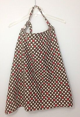 Udder Covers For Nursing Mothers Breast Feeding Cover Brown White Polka dots