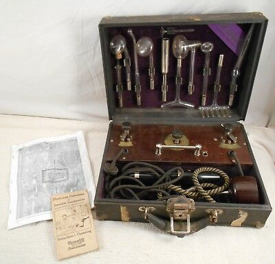 Renulife Violet Ray Electro Therapy & Ozone Deluxe Kit Model R with Instructions