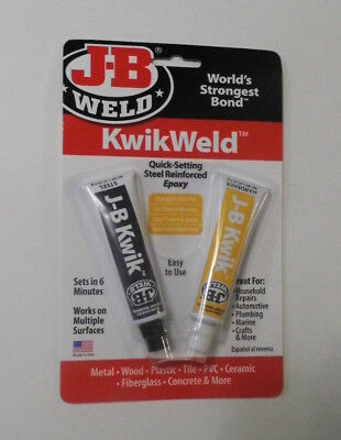 J-B Weld 8276 KwikWeld Quick Setting Steel Reinforced Epoxy 2 Oz