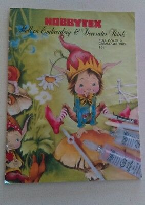 Vintage Hobbytex Catalogue Roll On Embroidery & Decorator Paints