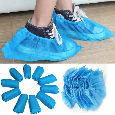 100pcs Disposable Shoe Boot Covers Overshoes Non Skid Reusable Indoors Medical