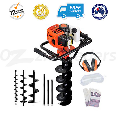 88cc Petrol Post hole Digger Drill Borer Fence Extensions Auger Bits