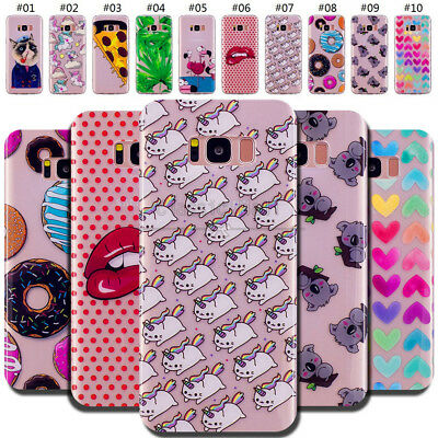 For Samsung Phones TPU Silicone Rubber Gel Soft Back Skin Case Protective Cover