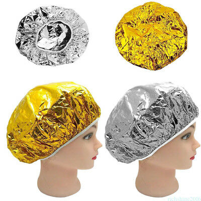 Gold/Silver Aluminum Foil Cap Waterproof Ultra-thin Stretch Shower Sofa Hair EOA