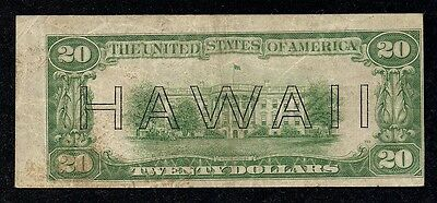 FR# 2304 Error, $20.00 Hawaii, Series 1934, Alignment Error & Mule Note!